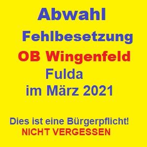 Fulda Abwahl OB Wingenfeld im Maerz 2021